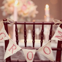 Burlap Wedding Signs