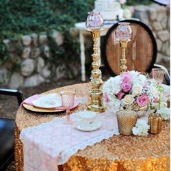 gold sequins sequence tablecloth