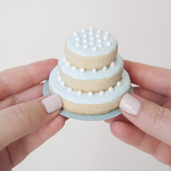 Stacked Wedding Cake Cookies Diy Stacked Wedding Cake
