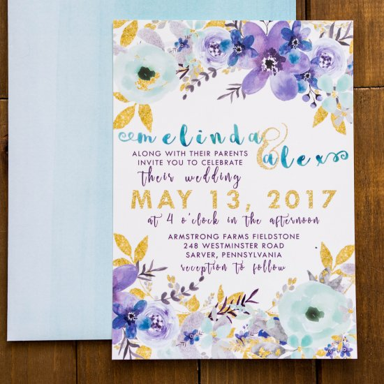 DIY Watercolor Wedding Stationary