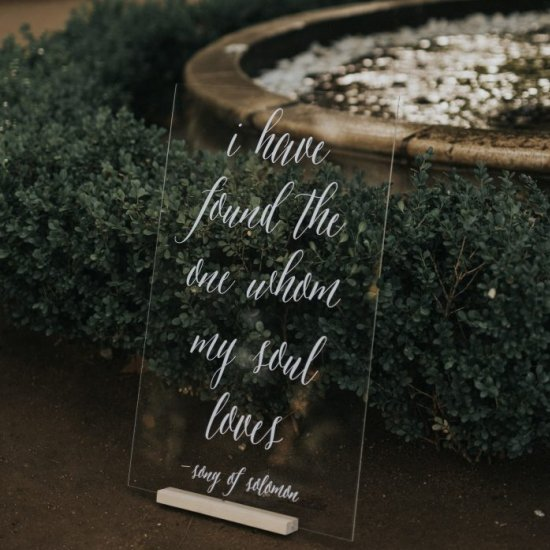 Our Fav Acrylic Wedding Signage